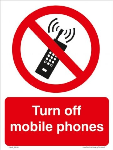 Turn off mobile phones